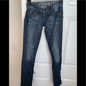 Guess embellished/ embroidered jeans